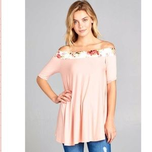 NWT Pink Blush off shoulder top